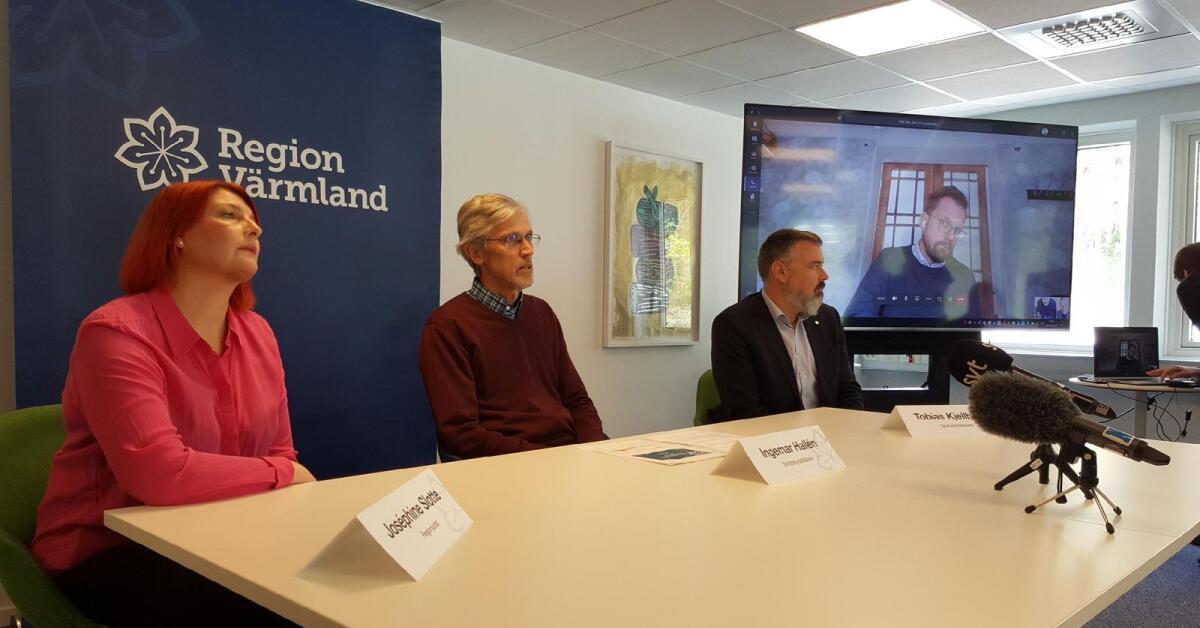 Pressträff om covid-19 med Region Värmland