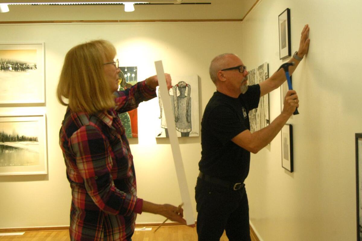 Hängning av utställningen