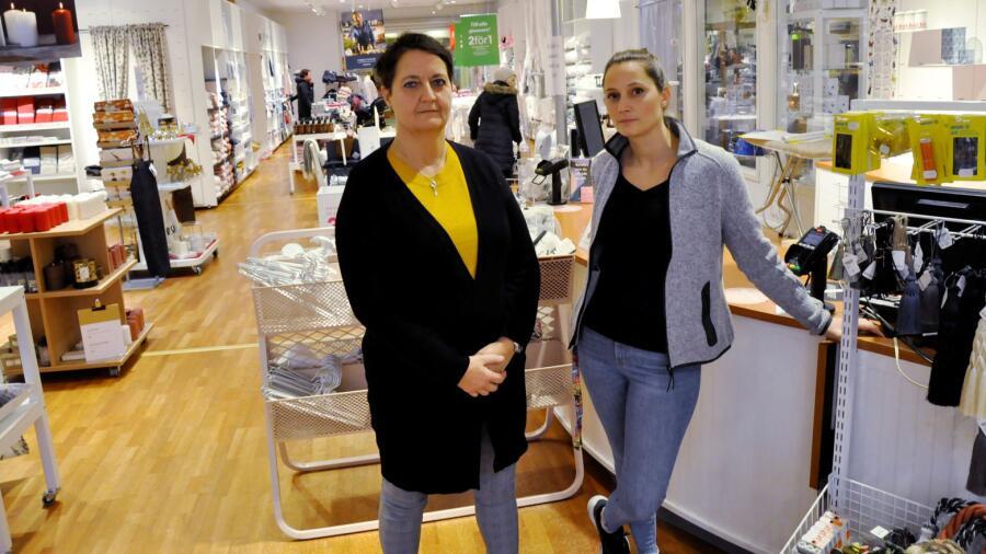 För Marina Frisk och Malin Bergström känns det väldigt tråkigt att slå igen  sin Hemtexbutik. cdf9e6f012291
