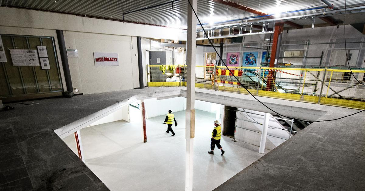Om fyra månader invigs gallerian Valvet mitt i stan NWT