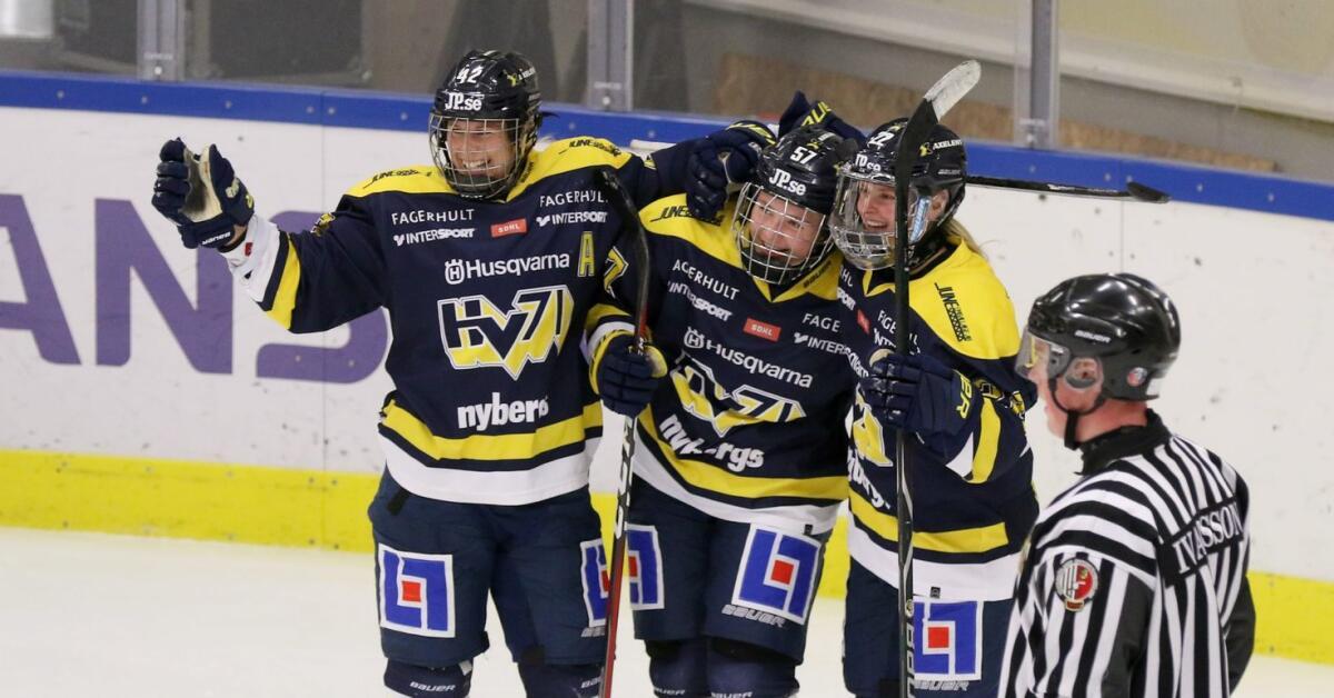 Lina målskytt när HV 71 slog ut Leksand