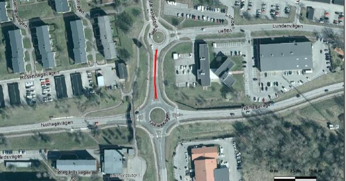 Genomfartsförbud på Mariestadsvägen