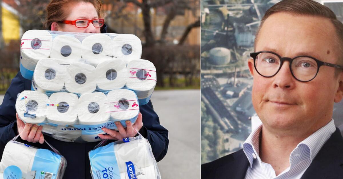 """Samtidigt på toapappersfabriken: """"Vi klarar att leverera"""""""