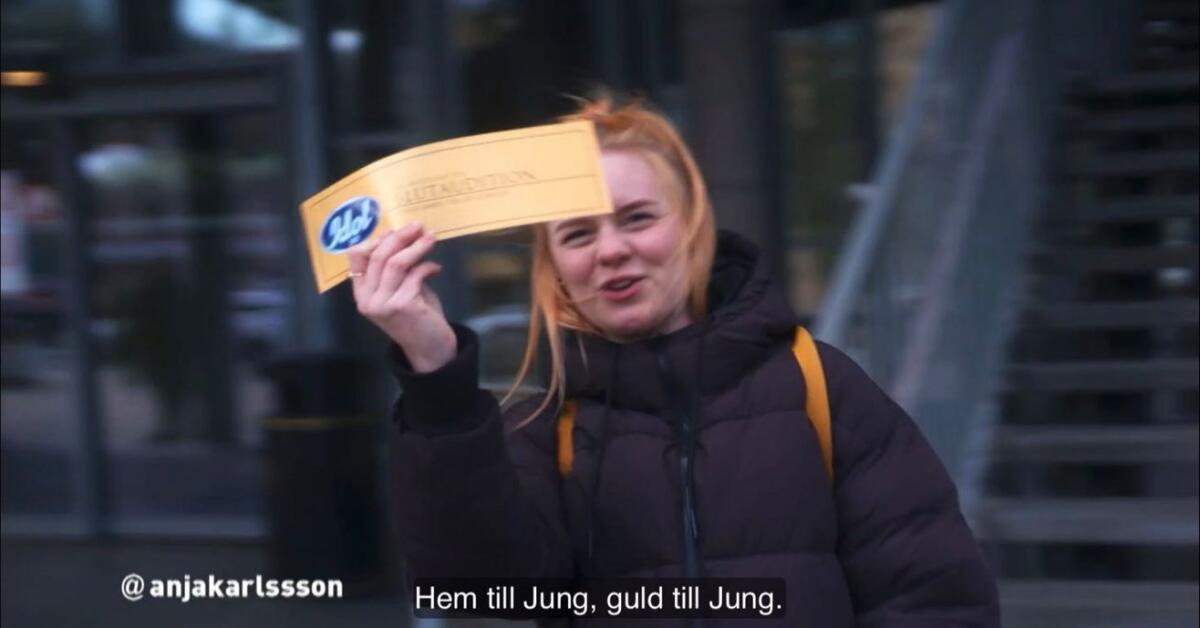 """Anja från Jung om guldbiljetten i Idol: """"De hade inte kunnat säga finare ord"""""""