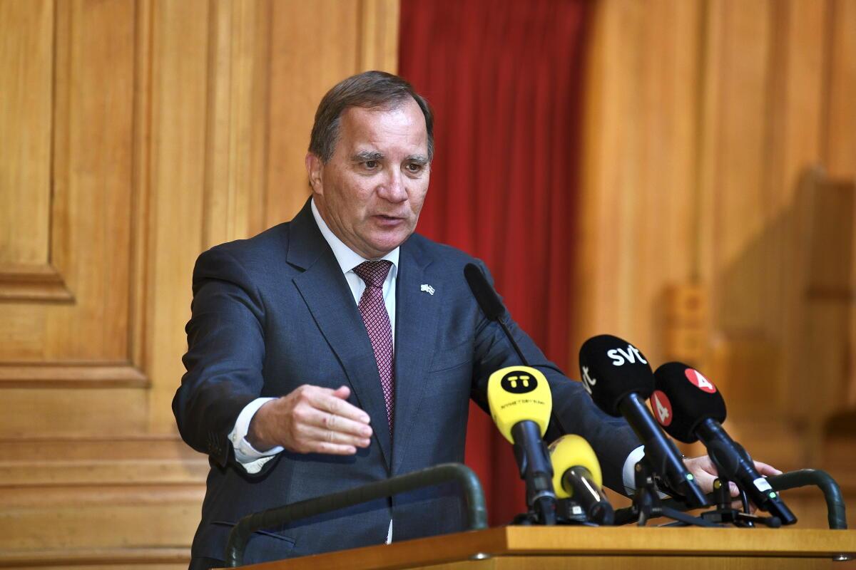 Löfven beredd bli statsminister utan budgetstöd - NWT