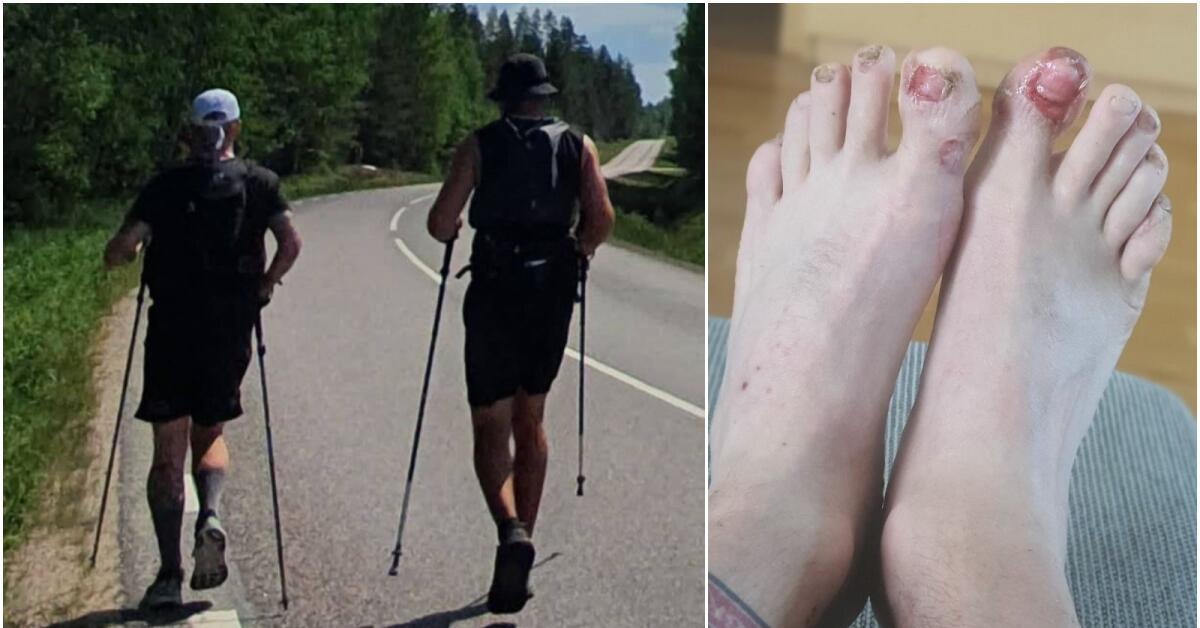 """Efter 30 mils löpning: """"Jag fick plocka bort mina stortånaglar"""""""