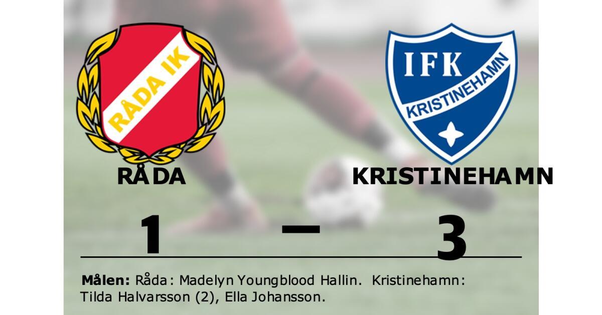 Tilda Halvarsson i målform när Kristinehamn vann