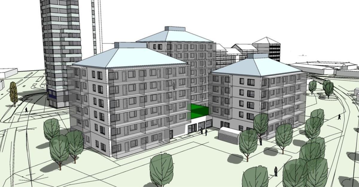 Skövdebostäder ska bygga 90 lägenheter på Mossagården