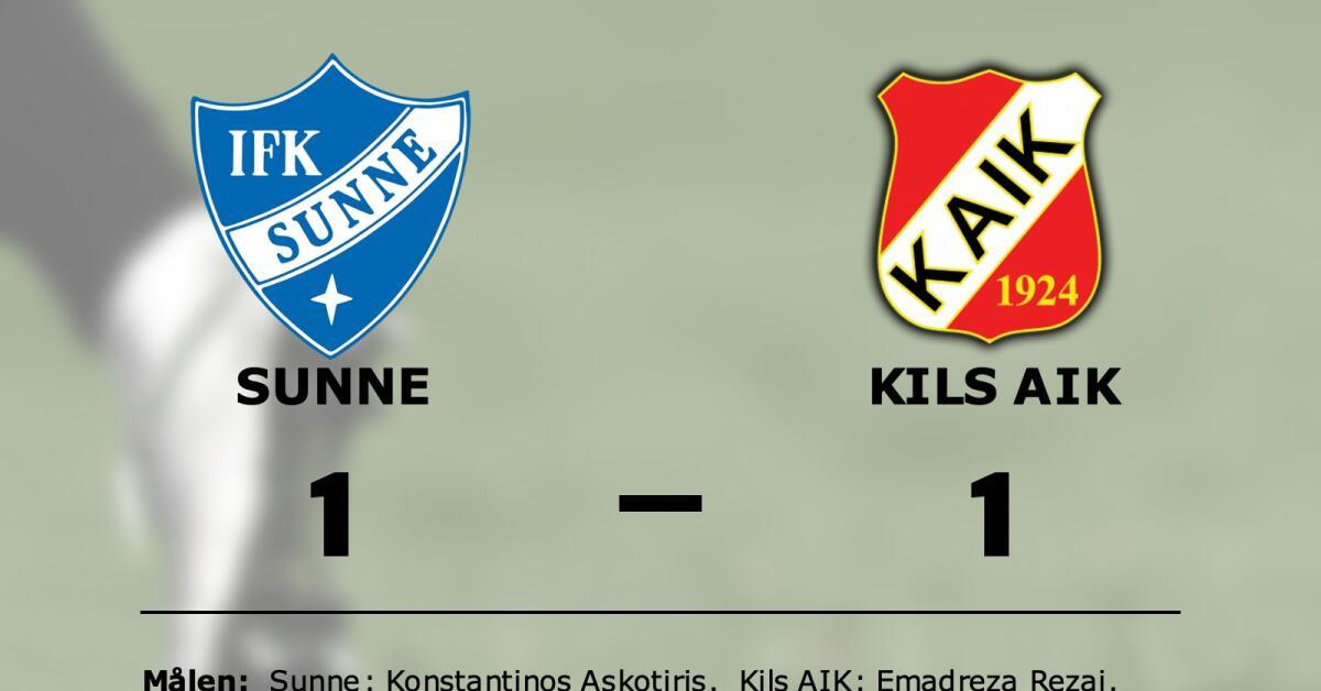 Sunne och Kils AIK delade på poängen