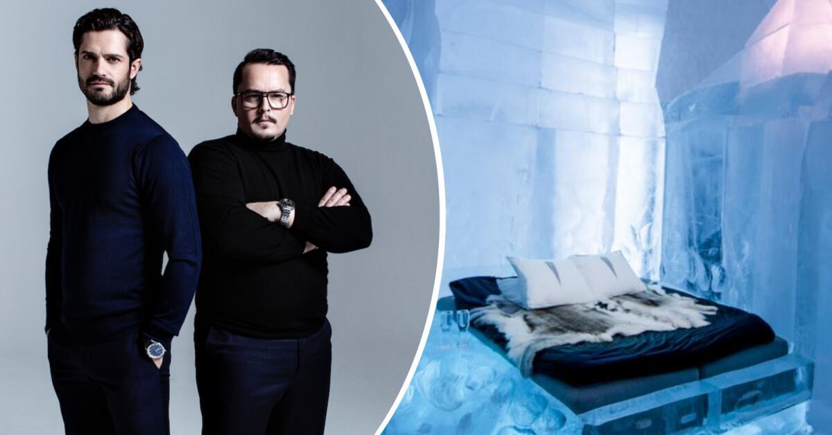 Prinsen och Kylberg skapar en hotellsvit av snö och is