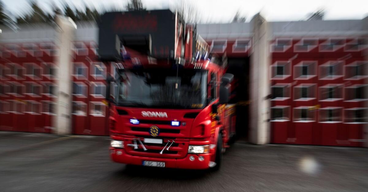 Kraftig brand i stall utanför Hagfors
